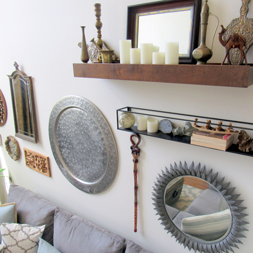 Mirrors and collected items
